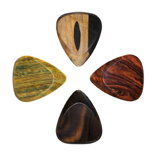 Timber Tones Fat Mixed Pack of 4 Guitar Picks